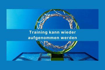 Training kann wieder aufgenommen werden - Beitrag